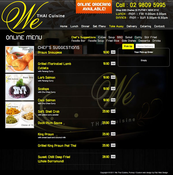 We Thai Cuisine by Fab Web Design